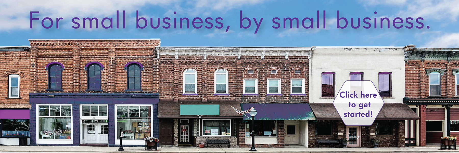 Small businesses along Main Street