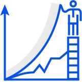 Upward growth icon